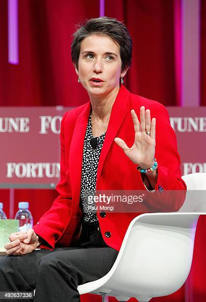 Amy Walter National Editor The Cook Political Report speaks onstage during Fortune's Most Powerful Women Summit Day 3 at the Mandarin Oriental Hotel...