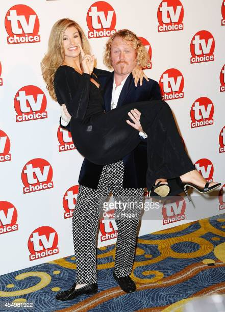 Amy Willerton and Leigh Francis attend the TV Choice Awards 2014 at London Hilton on September 8 2014 in London England