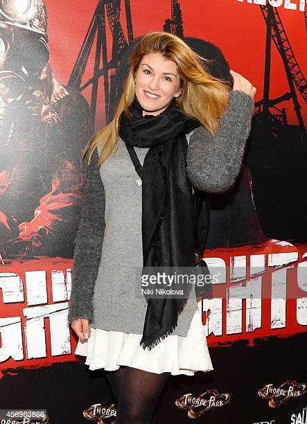 Amy Willerton attends Friday Night VIP event held in at Thorpe Park on October 9 2014 in Chertsey England