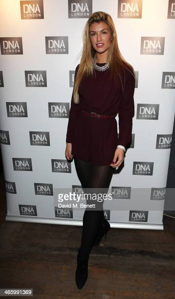 Amy Willerton attends the launch of DNA London on January 30 2014 in London England