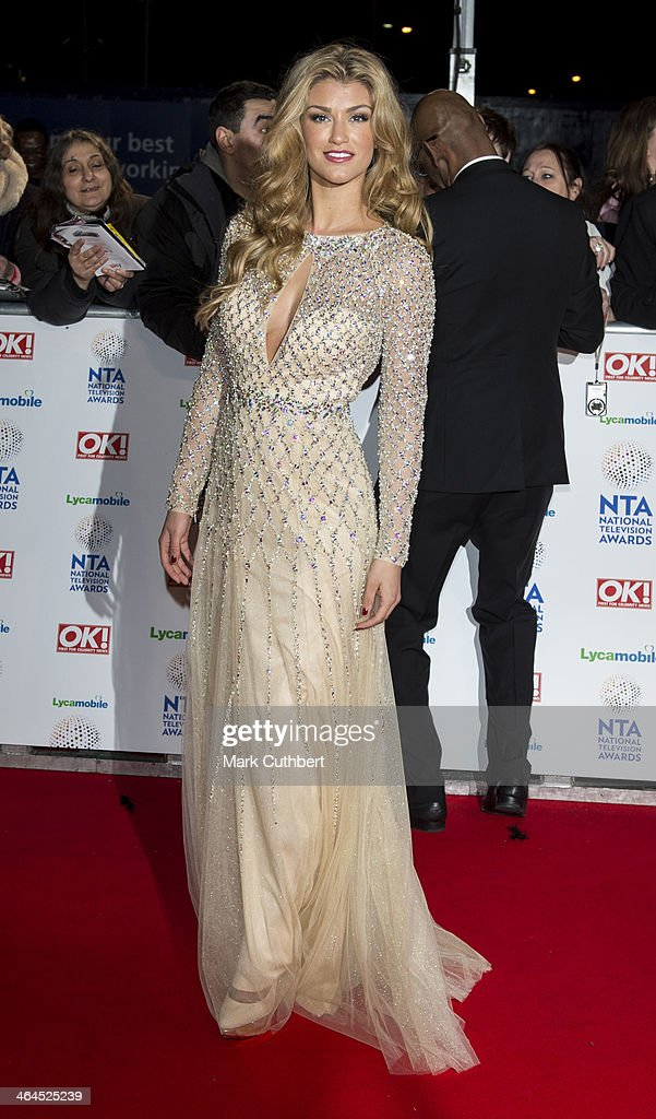 Amy Willerton attends the National Television Awards at 02 Arena on January 22, 2014 in London, England.