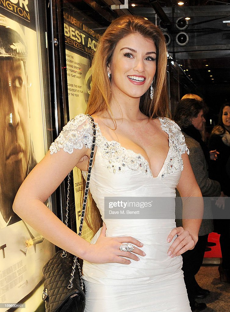 Amy Willerton attends the UK Premiere of 'Flight' at the the Empire Leicester Square on January 17, 2013 in London, England.