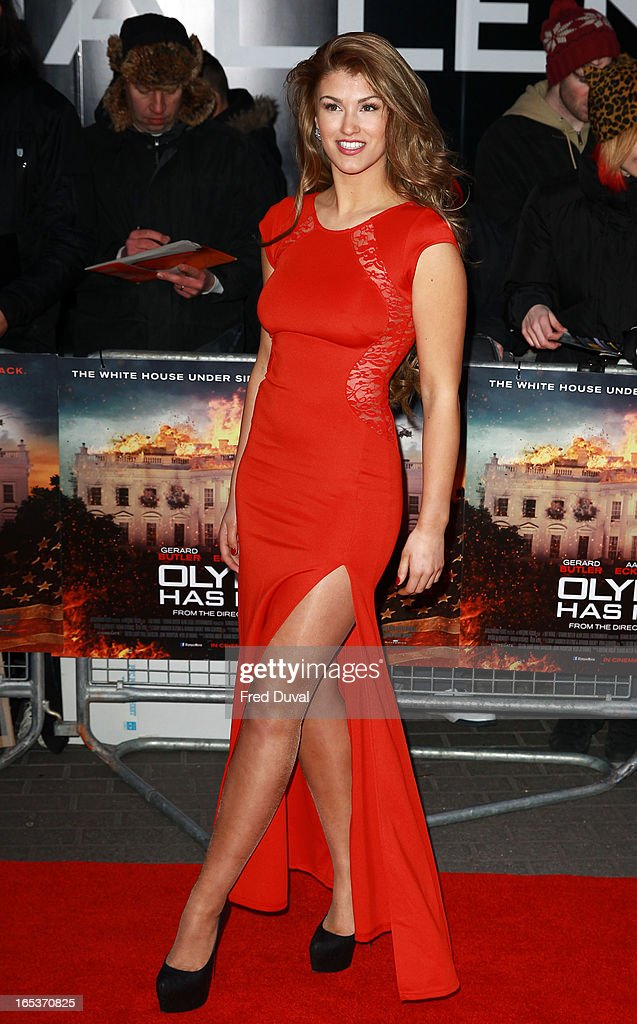 Amy Willerton attends the UK Premiere of 'Olympus Has Fallen' at BFI IMAX on April 3, 2013 in London, England.