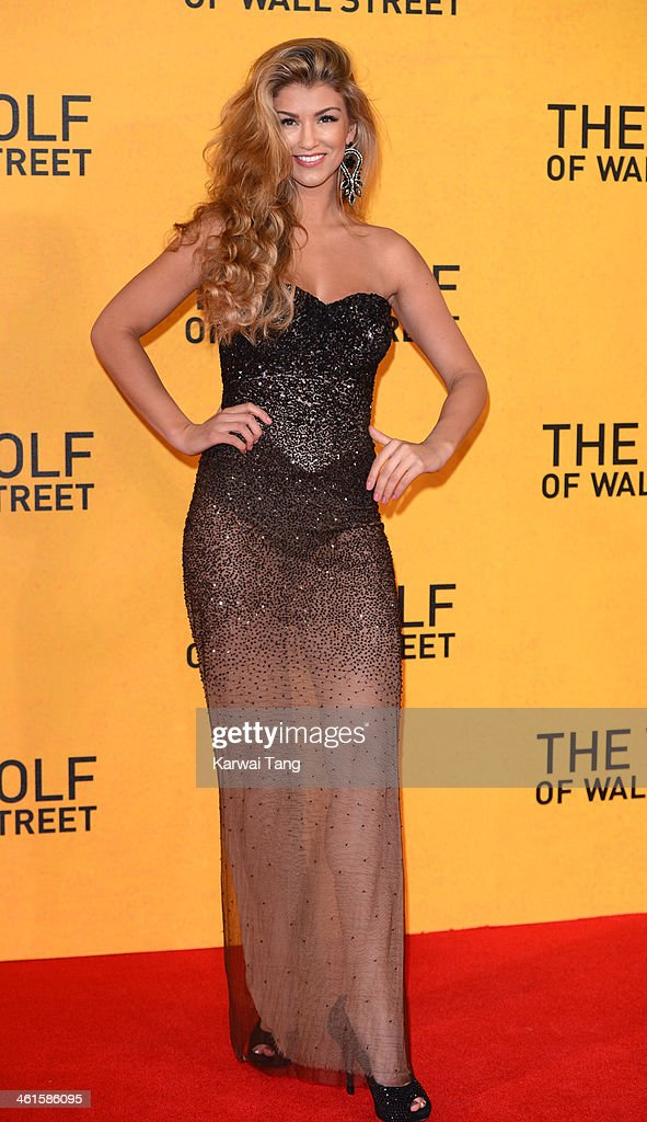 <a gi-track='captionPersonalityLinkClicked' href=/galleries/search?phrase=Amy+Willerton&family=editorial&specificpeople=8785597 ng-click='$event.stopPropagation()'>Amy Willerton</a> attends the UK Premiere of 'The Wolf Of Wall Street' at the Odeon Leicester Square on January 9, 2014 in London, England.