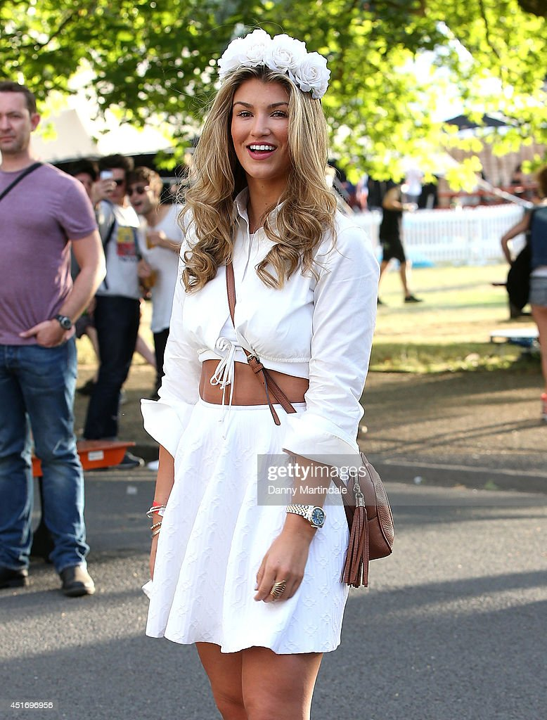 Amy Willerton attends the Wireless Festival at Finsbury Park on July 4, 2014 in London, United Kingdom.