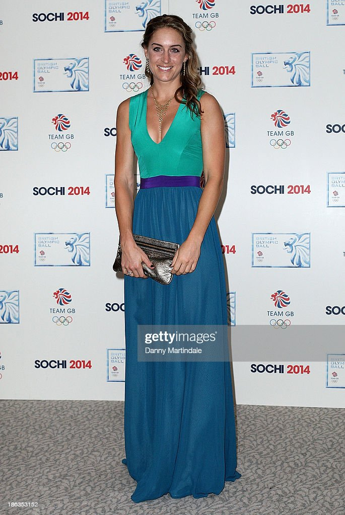 <a gi-track='captionPersonalityLinkClicked' href=/galleries/search?phrase=Amy+Williams+-+Winter+Sportswoman&family=editorial&specificpeople=6718687 ng-click='$event.stopPropagation()'>Amy Williams</a> attends the British Olympic Ball at The Dorchester on October 30, 2013 in London, England.