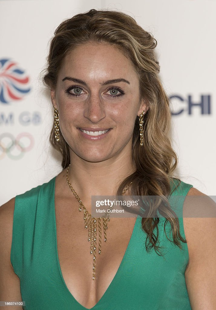 Amy Williams attends the British Olympic Ball at The Dorchester on October 30, 2013 in London, England.
