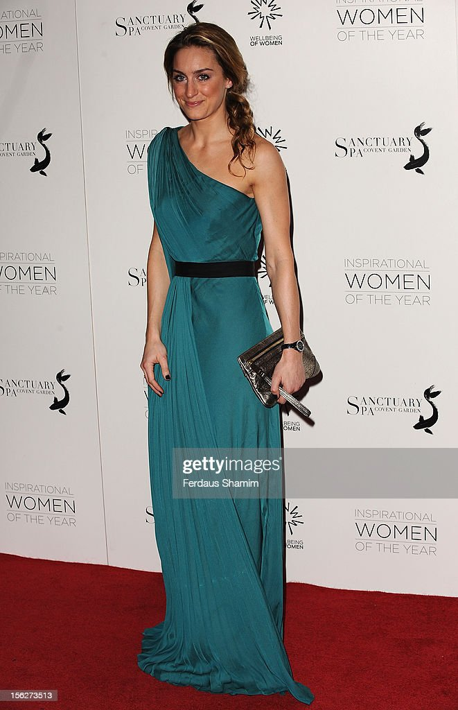 Amy Williams attends The Daily Mail Inspirational Women of the Year Awards sponsored by Sanctuary Spa and in aid of Wellbeing of Women at Marriott Hotel Grosvenor Square on November 12, 2012 in London, England.