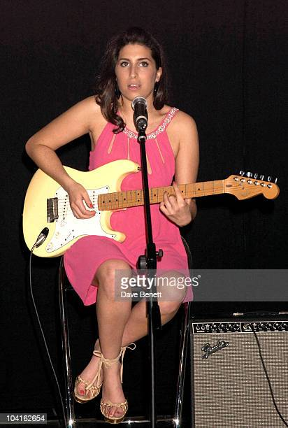 Amy Winehouse at the Mobo Awards Nominations 2003 At Tantra Nightclub In Kingley Street In Soho London