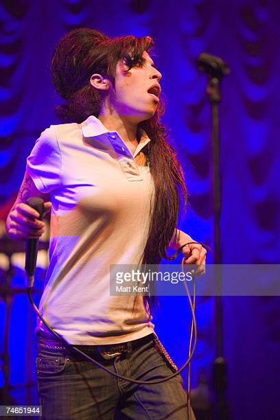 Amy Winehouse at the The Astoria in London United Kingdom