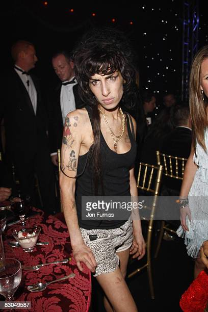 Amy Winehouse attends End of Summer Ball at Berkeley Square on September 25 2008 in London England