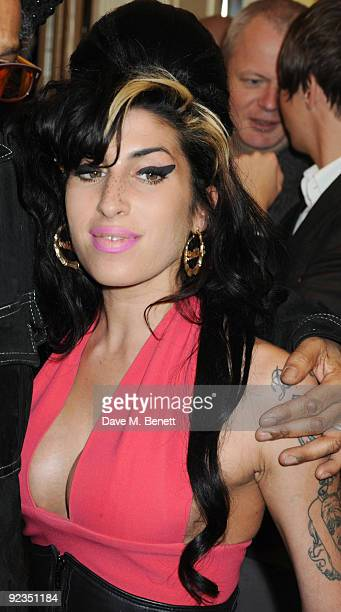 Amy Winehouse attends The Q Awards at the Grosvenor House on October 26 2009 in London England