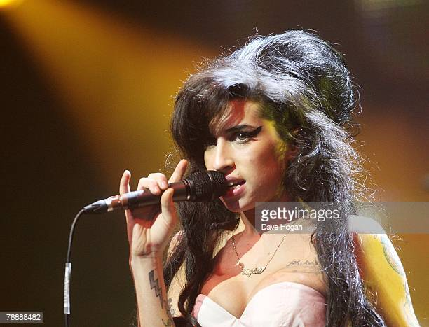 Amy Winehouse performs on stage at the Music Of Black Origin Awards at the O2 Arena Greenwich on September 19 2007 in London England