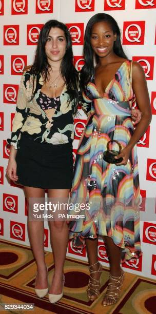Amy Winehouse with Jamelia who received the Best Single award for 'See It In A Boy's Eyes' during the 15th annual Q Awards at Grosvenor House in...
