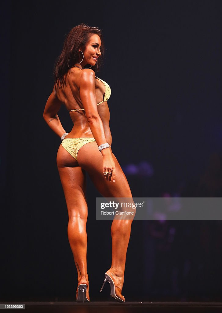 Amy Wright of Australia poses in the Women's Bikini section during the IFBB Australia Pro Grand Prix XIII at The Plenary on March 9, 2013 in Melbourne, Australia.