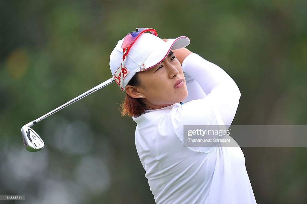 Amy Yang of South Korea plays a shot during day four of the 2015 LPGA Thailand at Siam Country Club on March 1 2015 in Chon Buri Thailand