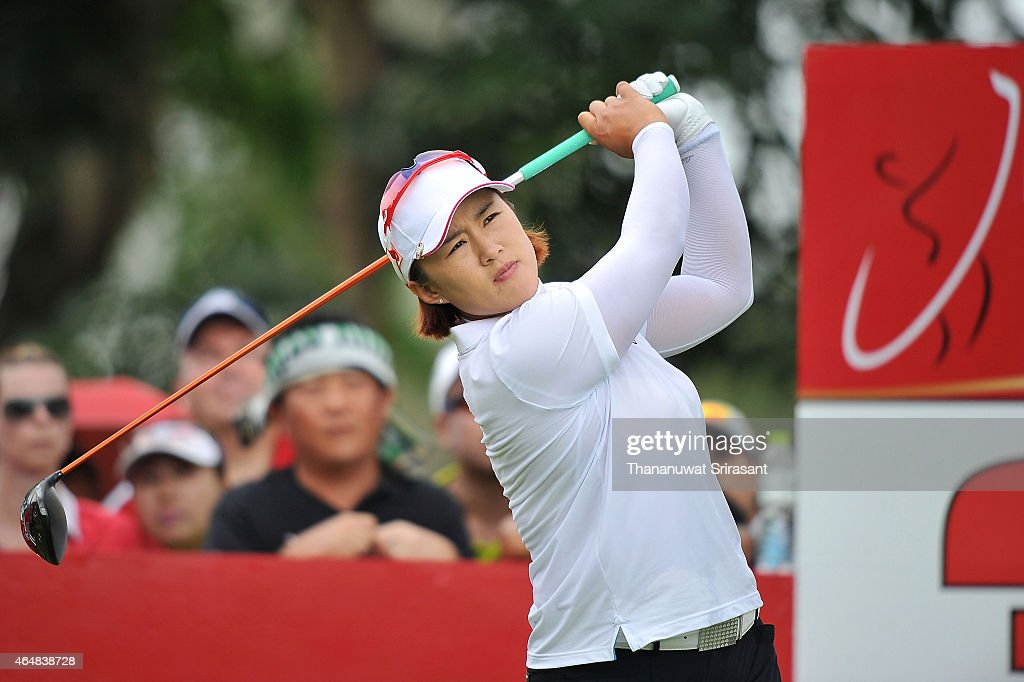 Amy Yang of South Korea plays the shot during day four of the 2015 LPGA Thailand at Siam Country Club on March 1 2015 in Chon Buri Thailand
