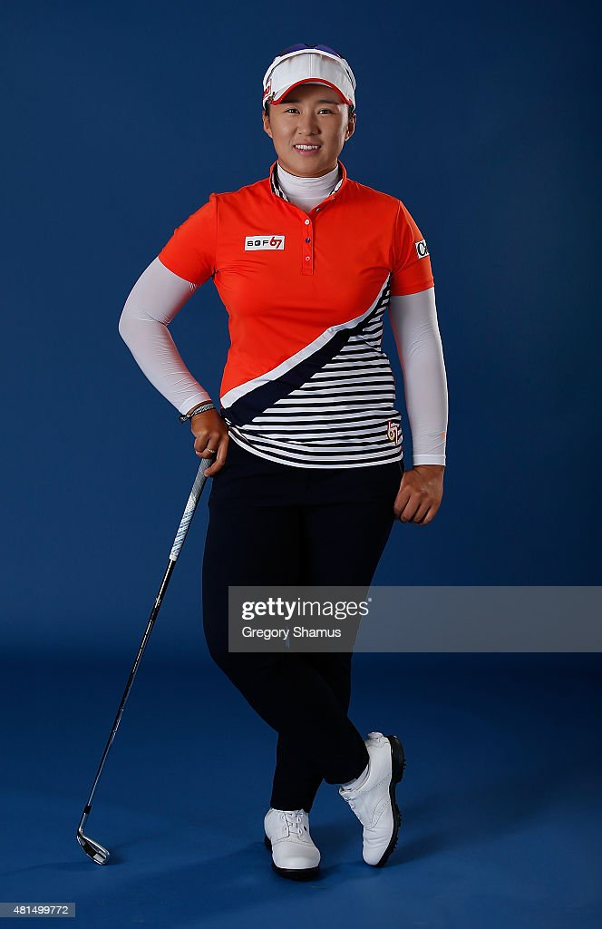 <a gi-track='captionPersonalityLinkClicked' href=/galleries/search?phrase=Amy+Yang&family=editorial&specificpeople=739014 ng-click='$event.stopPropagation()'>Amy Yang</a> of South Korea poses for a portrait prior to the Meijer LPGA Classic presented by Kraft at Blythefield Country Club on July 21, 2015 in Grand Rapids, Michigan.