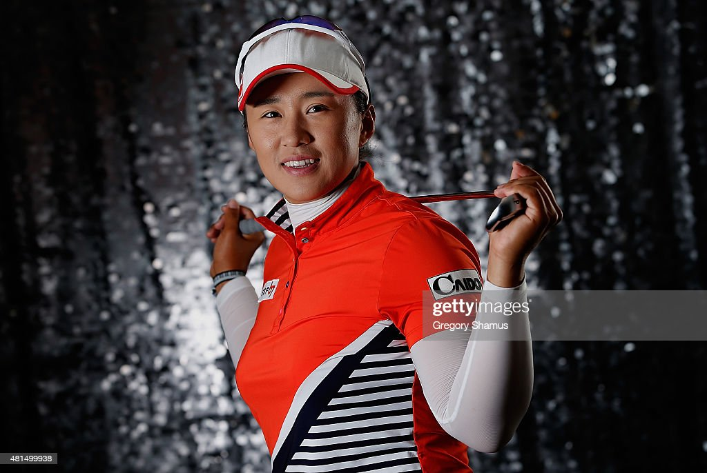 Amy Yang of South Korea poses for a portrait prior to the Meijer LPGA Classic presented by Kraft at Blythefield Country Club on July 21 2015 in Grand...