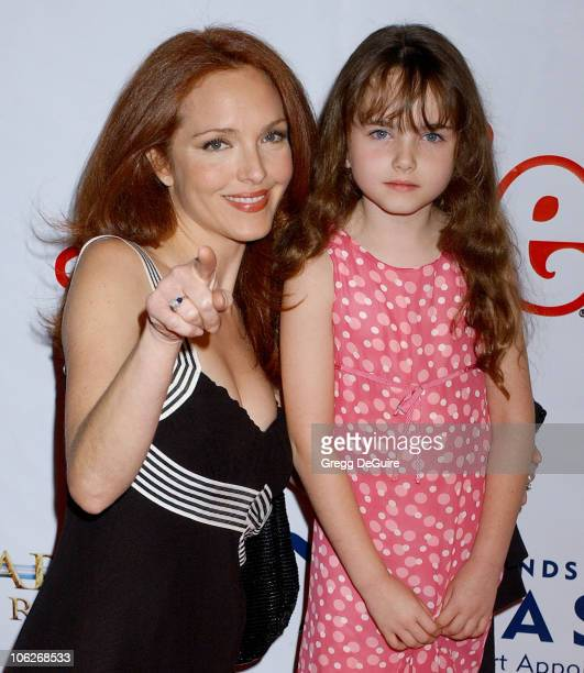 Amy Yasbeck and daughter Stella during 'Annie' Opening Night to Benefit CASA of Los Angeles Arrivals at Pantages Theatre in Hollywood California...