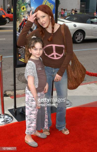 Amy Yasbeck and daughter Stella during 'Barnyard' World Premiere Arrivals at Cinerama Dome in Hollywood California