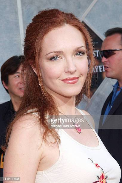 Amy Yasbeck during 'The Greatest Game Ever Played' Los Angeles Premiere Arrivals at El Capitan Theater in Los Angeles California United States