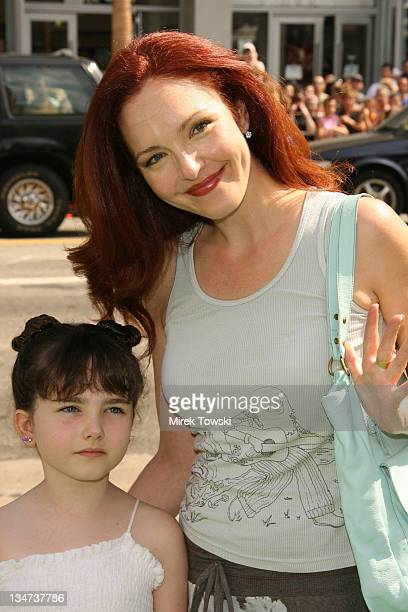 Amy Yasbeck with her daughter Stella Ritter during 'The Ant Bully' Los Angeles Premiere Arrivals at Grauman's Chinense Theater in Hollywood...
