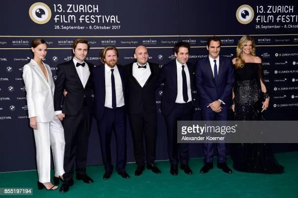 Amy Zeilon Sverrir Gudnason Janus Metz Pedersen Ronnie Sandahl Festival director Karl Spoerri Roger Federer and Festival director Nadja Schildknecht...