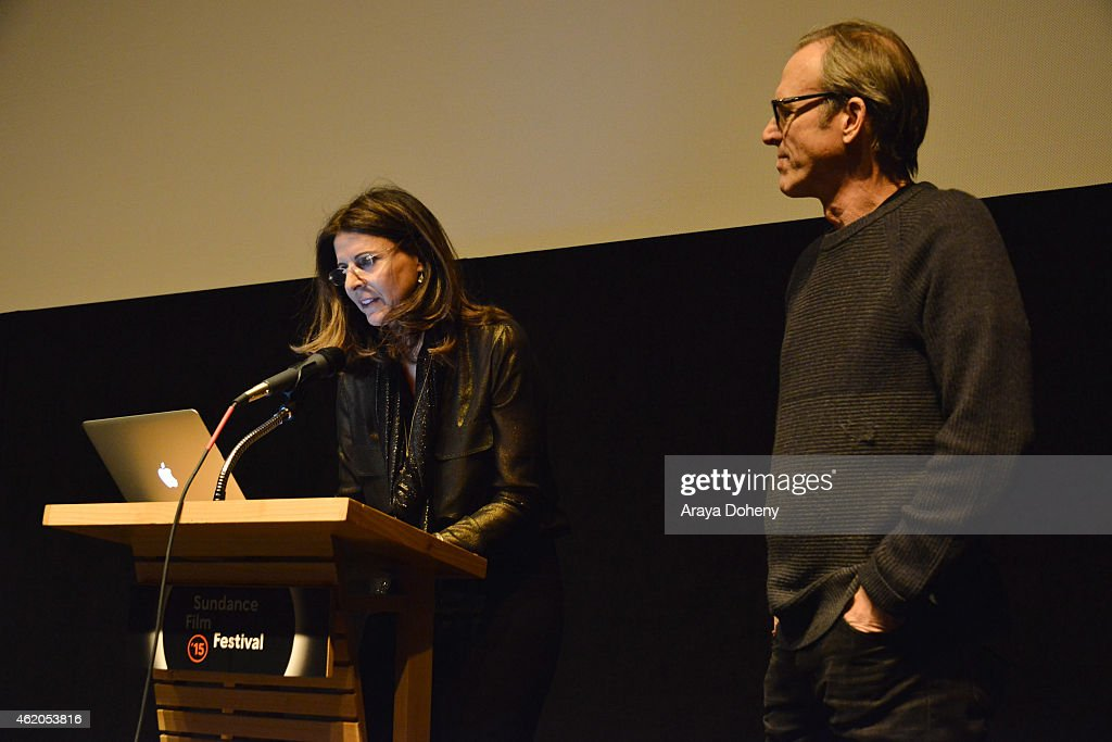 Amy Ziering and Kirby Dick attend 'The Hunting Ground' premiere during the 2015 Sundance Film Festival on January 23 2015 in Park City Utah