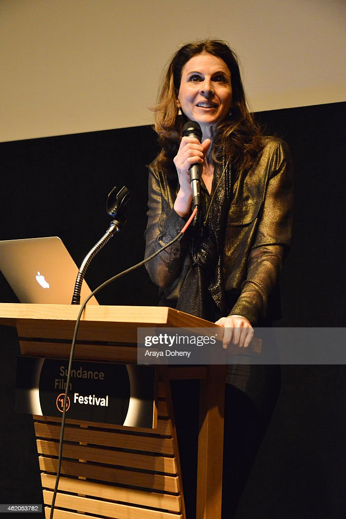 Amy Ziering attends 'The Hunting Ground' premiere during the 2015 Sundance Film Festival on January 23 2015 in Park City Utah