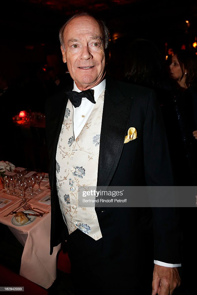Amyn Aga Khan attends Pierre Pelegry's birthday party at Maxim's on March 1, 2013 in Paris, France.