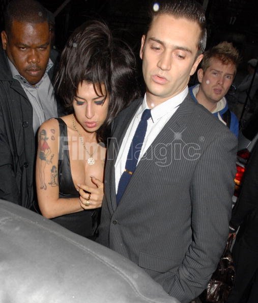 AmyWinehouse And Reg Travis Attends Shaka Zulu Bar Launch