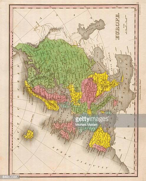 An 1826 map of Europe shows entries for the Russian Empire Prussia Holland and other countries