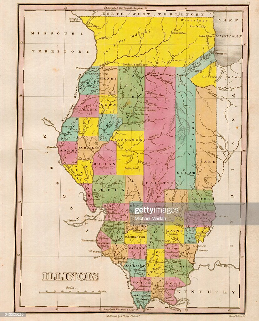 Map Of Illinois Pictures Getty Images - Map of illinois