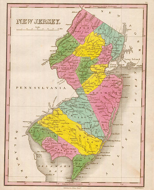 Map Of New Jersey Pictures Getty Images - County map of new jersey