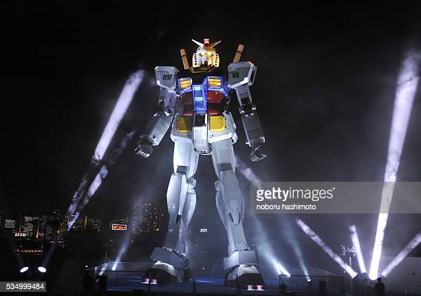 An 18meter tall 'Gundam' at Tokyo seaside garden The fullsize model of Japan's popular robot animation character was built for the 30th anniversary...