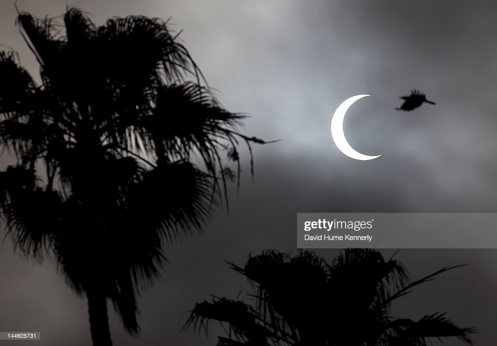 An 84% annular solar eclipse of the sun is seen on May 20, 2012 in Santa Monica, California. It is the first time in 18 years since an annular solar eclipse was widely observed in the United States.