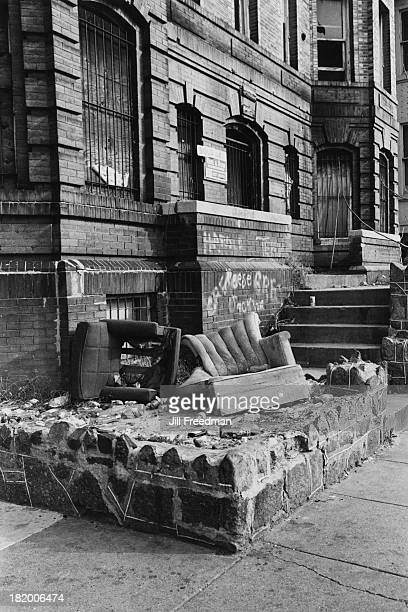 An abandoned building in the Adams Morgan neighbourhood of Washington DC 1977