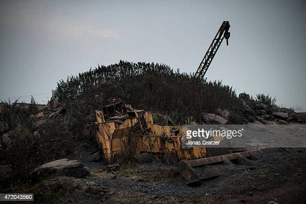 An abandoned coal bucket at the Jharia coal mine Jharia in India's eastern Jharkand state is literally in flames This is due to the open cast coal...