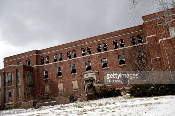 An abandoned hospital is seen February 24 2013 in Detroit Michigan The city of Detroit has faced serious economic challenges in the past decade with...