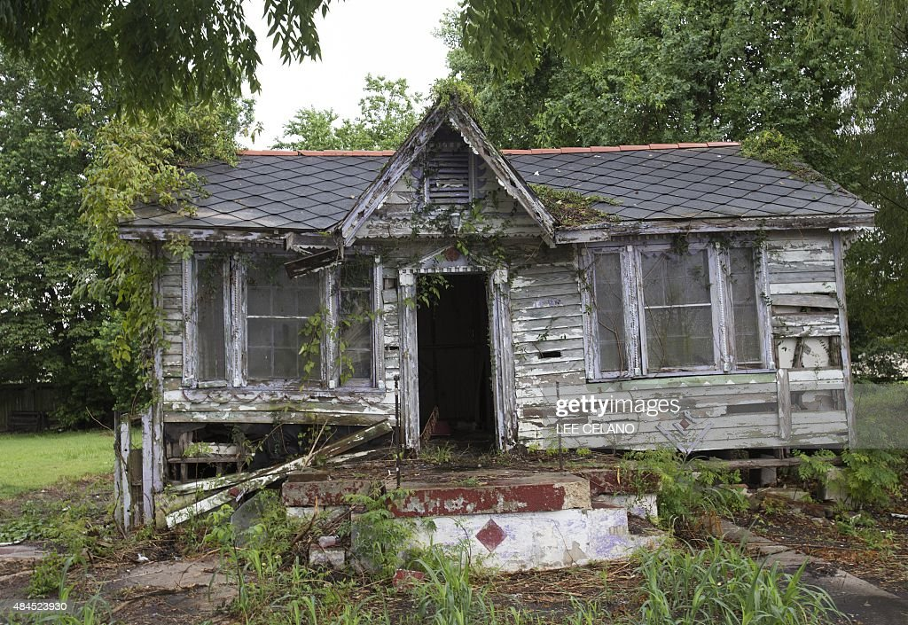 An Abandoned House Damaged By Hurricane Katrina Is Seen