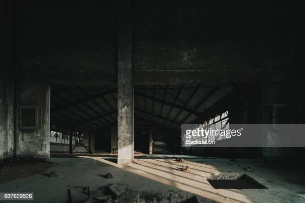 an abandoned warehouse