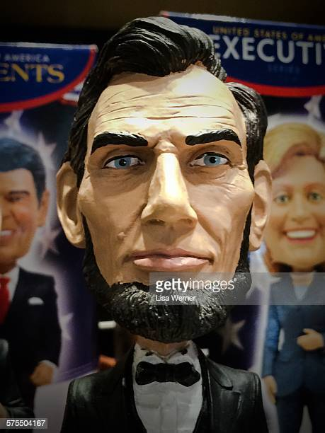 An Abraham Lincoln bobblehead novelty doll in Washington D C USA