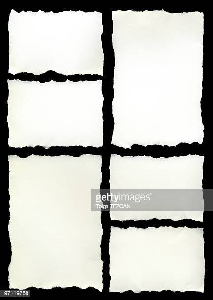 An abstract black and white image