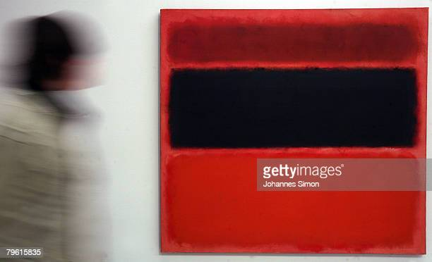 An abstract painting of US painter Mark Rothko is seen prior to the opening of an exhibition at the Munich Kunsthalle on February 7 2008 in Munich...