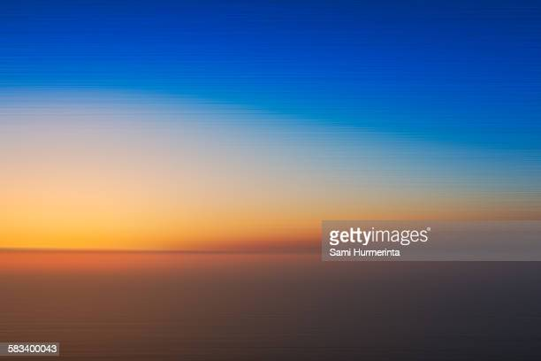 An abstract sunset over sea