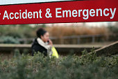 An Accident and Emergency sign outside St Thomas' Hospital on January 6 2015 in London United Kingdom Figures released suggest that the NHS in...