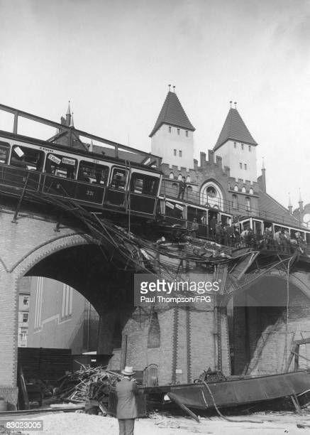 An accident on the UBahn in Berlin 26th September 1908