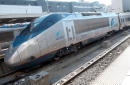 An Acela Express train sits parked December 10 2001 at South Station in Boston Massachusetts Amtrak recently added a ninth daily Express train to New...