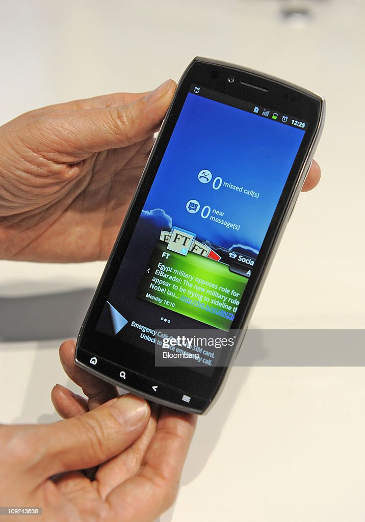 An Acer Inc. Smart smartphone is seen at the Mobile World Congress in Barcelona, Spain, on Thursday, Feb. 17, 2011. The Mobile World Congress takes place at Fira de Barcelona conference center Feb. 14-17. Photographer: Denis Doyle/Bloomberg via Getty Images